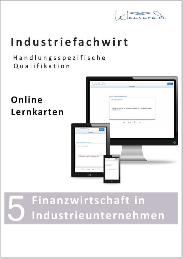 Lernkarten Finanzwirtschaft in Industrieunternehmen Industriefachwirt
