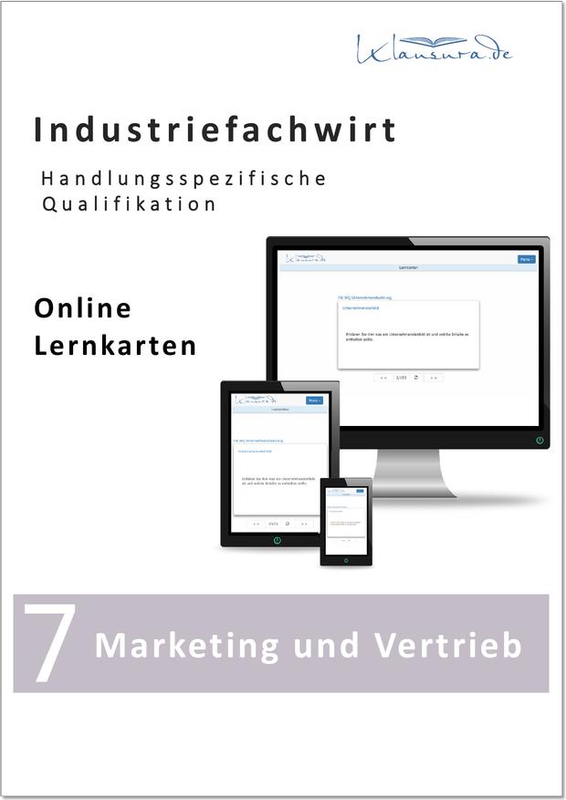 Lernkarten Marketing und Vertrieb Industriefachwirt