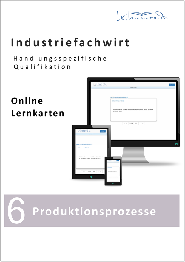 Lernkarten Produktionsprozesse Industriefachwirt