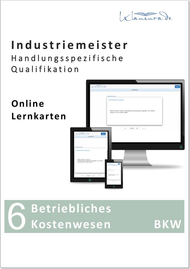 Online Lernkarten Betriebliches Kostenwesen BKW Industriemeister