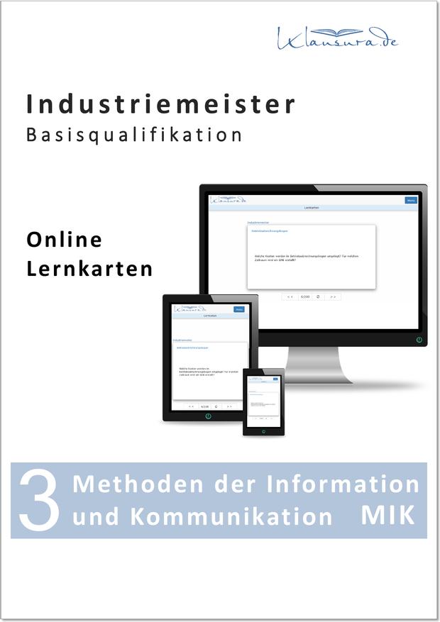 Online Lernkarten Methoden der Information und Kommunikation MIK Industriemeister