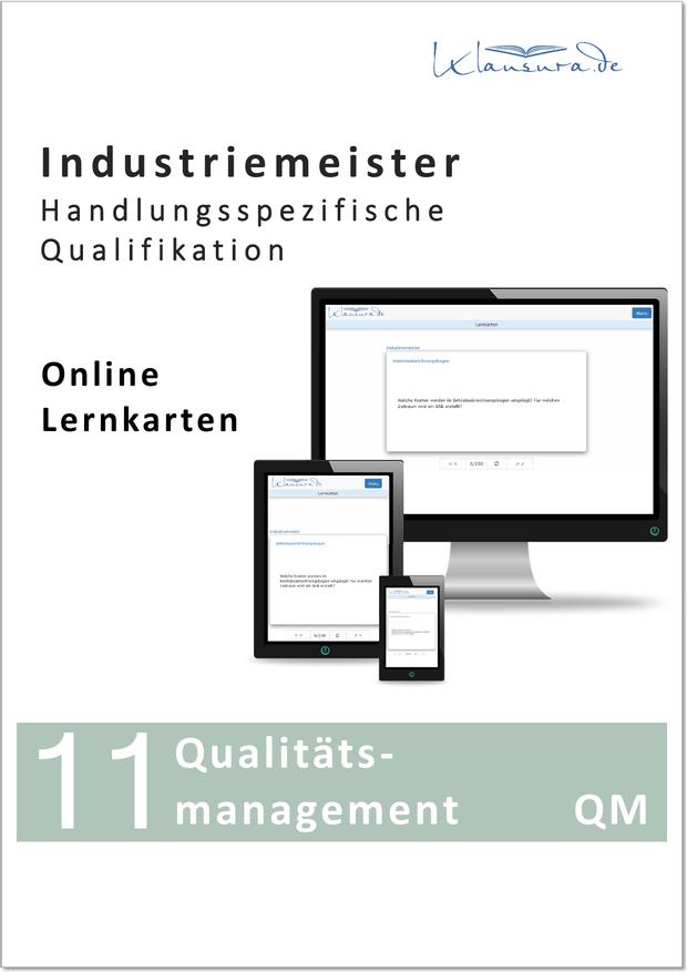 Online Lernkarten QM Qualitätsmanagement Industriemeister