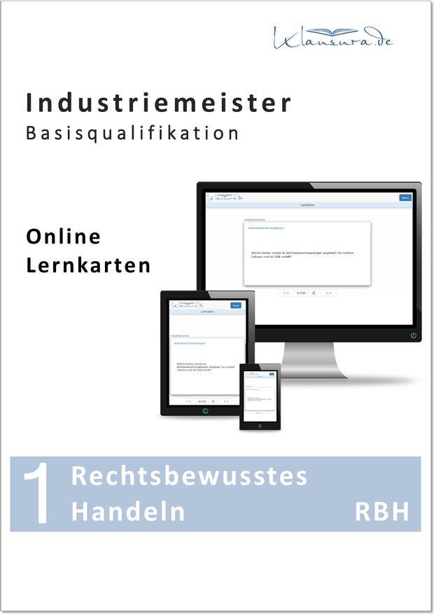 Online Lernkarten Rechtsbewusstes Handeln Industriemeister